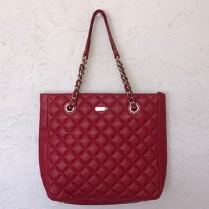 KATE SPADE TOTE WITH DOUBLE CHAIN/LEATHER HANDLES